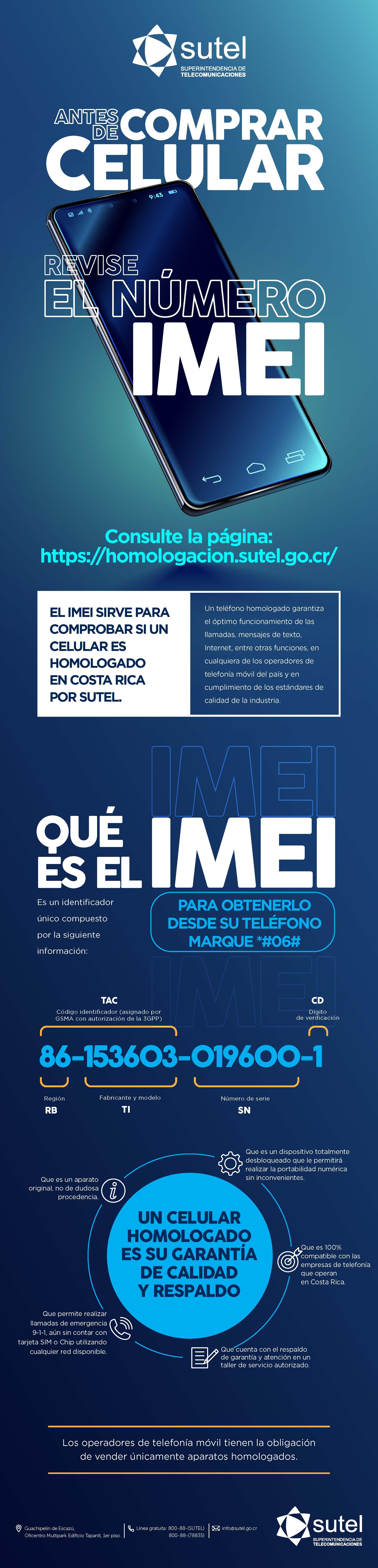 Infografía IMEI SUTEL