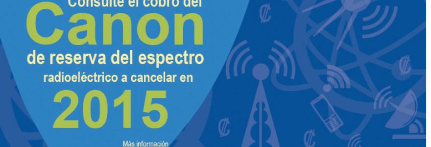 Canon reserva espectro radioeléctrico a pagar en 2015