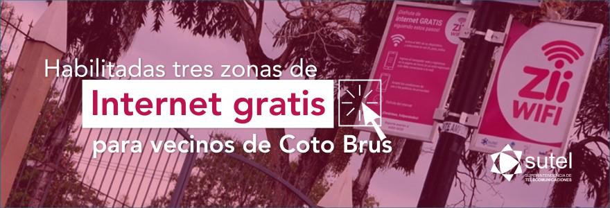 Habilitadas 3 zonas de Internet gratis para los habitantes de Coto Brus