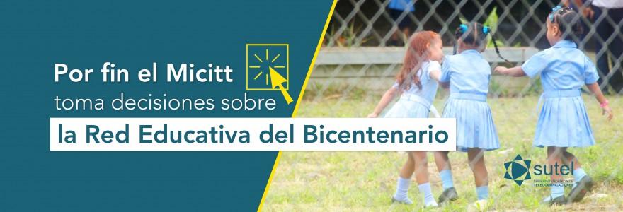 Banner Por fin Micitt toma decisiones sobre Red Educativa del Bicentenario