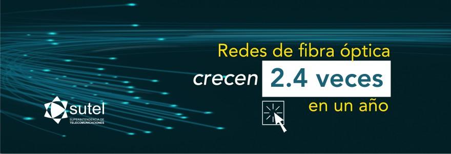 Banner Redes de fibra óptica crecen 2.4 veces en un año
