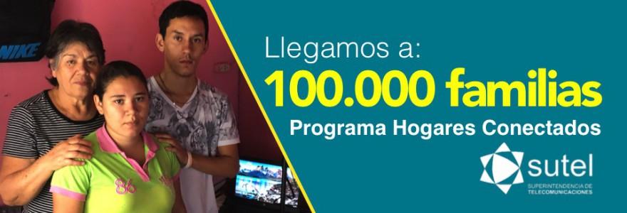 Programa Hogares Conectados llega a 100 mil familias