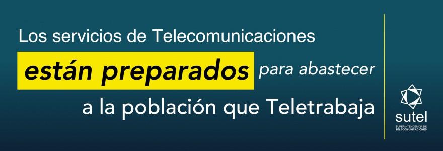 Los servicios de Telecomunicaciones están preparados para abastecer de la población que teletrabaja