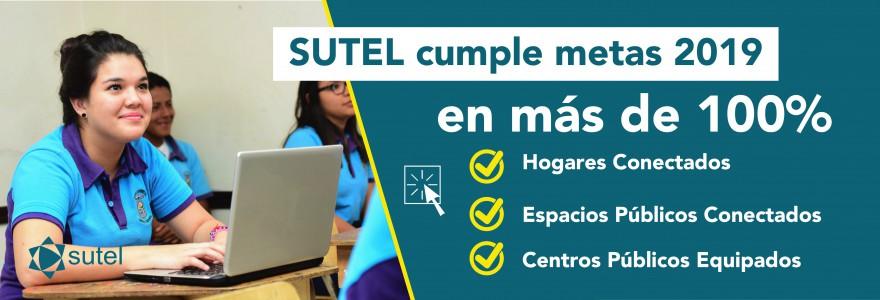 SUTEL cumple en más de 100% las metas para el 2019 en tres programas para cierre de brecha digital
