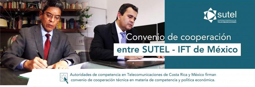 Banner convenio cooperación SUTEL - IFT de México